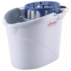 Ведро VILEDA Супер-моп, с системой отжима для веревочных и ленточных МОПов, овальное, объем 10 л, 122705