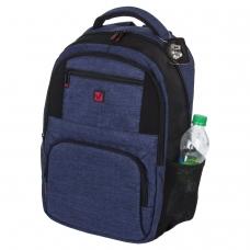 Рюкзак BRAUBERG универсальный, с отделением для ноутбука, 'DALLAS', синий, 45х29х15 см, 228866
