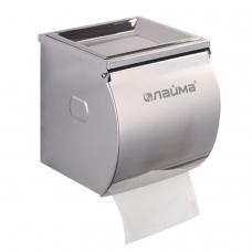 Диспенсер для туалетной бумаги в стандартных рулонах, нержавеющая сталь, зеркальный, ЛАЙМА, 605047