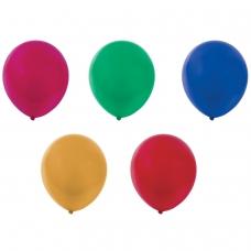 Шары воздушные ЗОЛОТАЯ СКАЗКА, 10' 25 см, КОМПЛЕКТ 10 штук, металлик, ассорти 5 цветов, пакет