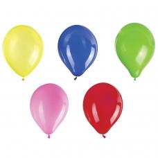 Шары воздушные ЗОЛОТАЯ СКАЗКА, 10' 25 см, КОМПЛЕКТ 10 штук, ассорти 5 цветов, пакет