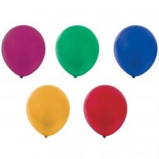 Шары воздушные ЗОЛОТАЯ СКАЗКА, 12' 30 см, КОМПЛЕКТ 10 штук, металлик, ассорти 5 цветов, пакет