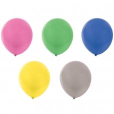 Шары воздушные ЗОЛОТАЯ СКАЗКА, 12' 30 см, КОМПЛЕКТ 10 штук, перламутровые, ассорти 5 цветов, пакет