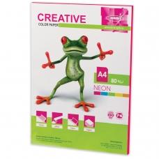 Бумага CREATIVE color Креатив, А4, 80 г/м2, 50 л., неон малиновая, БНpr-50м