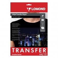 Бумага термотрансферная LOMOND для тёмных тканей, А4, 10 шт., 140 г/м2, 0808421