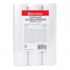 Рулоны для кассовых аппаратов, термобумага 57х40х12 40 м, комплект 12 шт., BRAUBERG, 110886