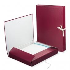 Папка для бумаг архивная, 30 мм, бумвинил, 2 х/б завязки, до 250 листов, 120253