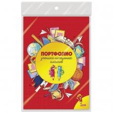 Листы-вкладыши для портфолио школьника, 16 листов, 'Веселые карандаши', HATBER, 16Пу4_12645, N165973