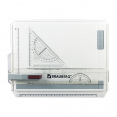 Доска чертежная А4, 370х295 мм, с рейсшиной и треугольником, BRAUBERG, 210535