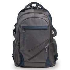 Рюкзак BRAUBERG 'MainStream 1', 35 л, размер 45х32х19 см, ткань, серо-синий, 224445