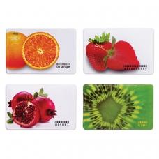 Обложка-карман для карточек, пропусков, ПВХ, 'Фрукты', 65х95 мм, ассорти, ДПС, 2802.ЯК.Ф