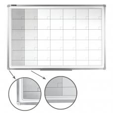 Доска-планинг НА МЕСЯЦ, магнитно-маркерная, BRAUBERG, 60х90 см, алюминиевая рамка, 236863