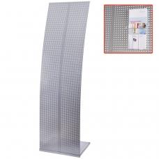 Стойка для рекламных материалов напольная, без лотков, ПАРУС-2, 1600х455х360 мм, хром, 290442