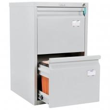 Шкаф картотечный ПРАКТИК 'A-42', 685х408х485 мм, 2 ящика для 84 подвесных папок, формат папок A4 БЕЗ ПАПОК