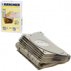 Мешки для сбора пыли KARCHER, комплект 5 шт., бумажные, +1 микрофильтр, для пылесоса SE 5.100, 6.904-143.0