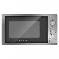 Микроволновая печь VEKTA MS720AHS, объем 20 л, мощность 700 Вт, механическое управление, таймер, серебро, MCO00053722