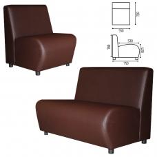 Кресло V-600, 780х550х750 мм, без подлокотников, экокожа, коричневое