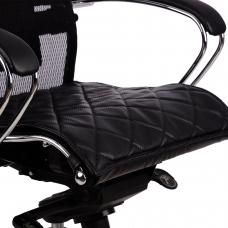 Накладка на сиденье для кресла SAMURAI, кожа, черная