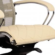 Накладка на сиденье для кресла SAMURAI, кожа, бежевая