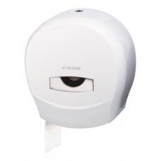 Диспенсер для туалетной бумаги ЛАЙМА PROFESSIONAL Система T2, малый, белый, ABS-пластик, 601427