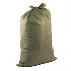 Мешки полипропиленовые до 50 кг, комплект 100 шт., 95х55 см, вес 47 г, для строительного/бытового мусора, зеленые, 601911