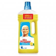 Средство для мытья пола и стен 1,5 л, MR.PROPER Мистер Пропер Лимон