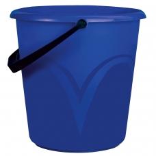 Ведро 12 л, без крышки, пластиковое, пищевое, с глянцевым узором, цвет синий, мерная шкала, ЛАЙМА, ЦВП-12