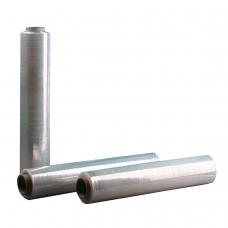 Стрейч-пленка для ручной упаковки, 45 см х 142 м, 17 мкм, вес 1 кг, СМЕСОВОЕ СЫРЬЕ, растяжение 220%