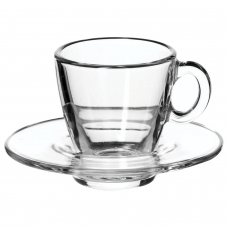 Набор кофейный на 6 персон 6 чашек объемом 72 мл, 6 блюдец, стекло, Aqua, PASABAHCE, 95756