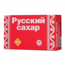 Сахар-рафинад Русский, 1 кг 196 кусочков, размер 15х16х21 мм, картонная упаковка