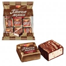 Конфеты шоколадные РОТ ФРОНТ Птичье молоко, суфле, сливочно-ванильные, 225 г, пакет, РФ09922