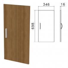 Дверь ЛДСП низкая 'Канц', 346х16х698 мм, цвет орех пирамидальный, ДК32.9