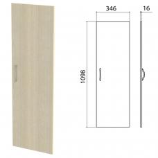 Дверь ЛДСП средняя 'Канц' 346х16х1098 мм, цвет дуб молочный, ДК36.15