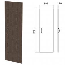 Дверь ЛДСП средняя 'Канц' 346х16х1098 мм, цвет венге, ДК36.16