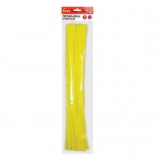 Проволока синельная для творчества 'Пушистая', желтая, 30 шт., 0,6х30 см, ОСТРОВ СОКРОВИЩ, 661539